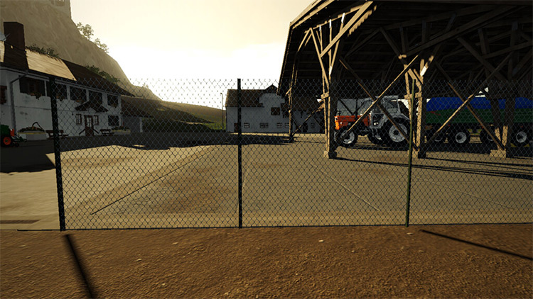 2-Meter Chain Link Fence Mod for FS19