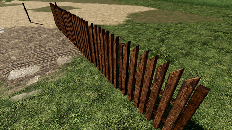 Wooden Fence Mod for FS19
