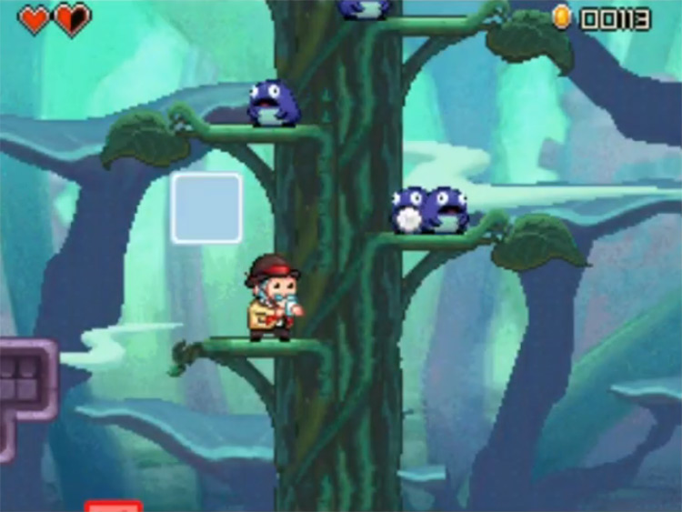 Henry Hatsworth in the Puzzling Adventure / NDS gameplay