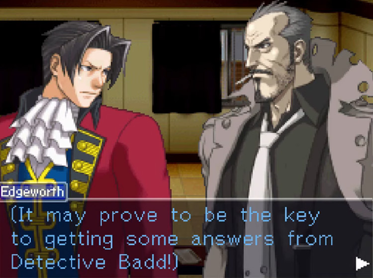 Ace Attorney Investigations: Miles Edgeworth / NDS gameplay