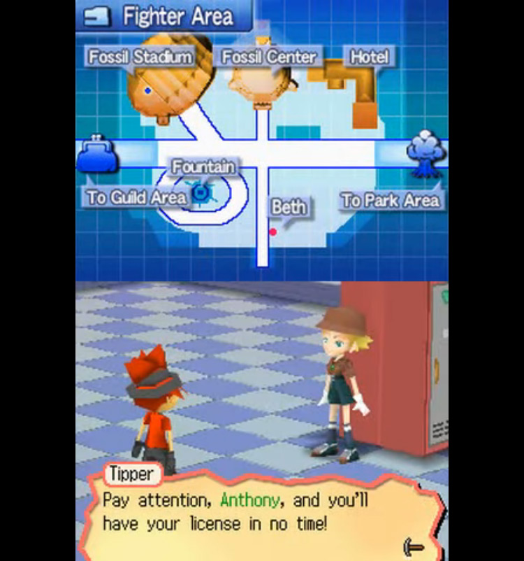 Fossil Fighters NDS gameplay screenshot