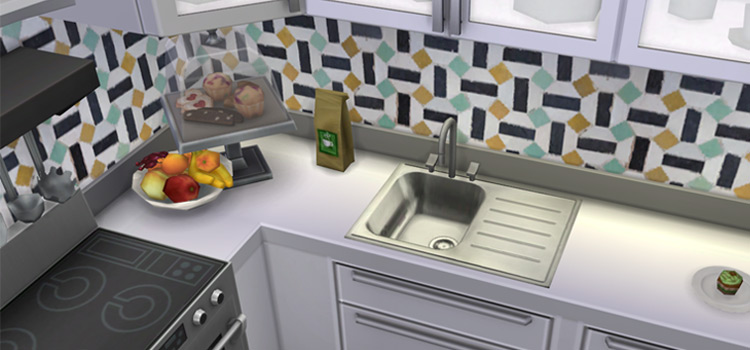 Kitchen sink CC design for The Sims 4
