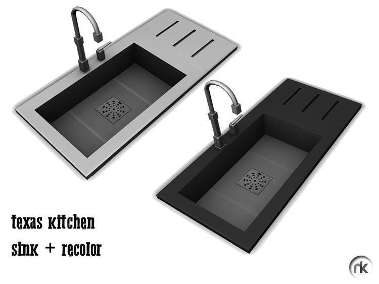 Nikadema Texas Kitchen Sink / Sims 4 CC