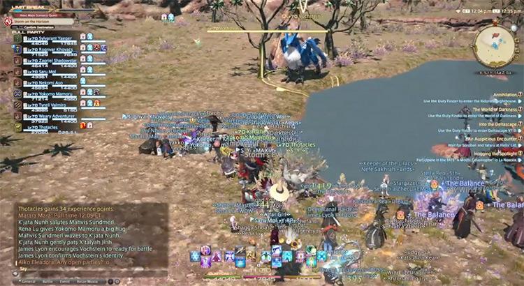 In-game Hunt Train A-Rank Mark in FFXIV