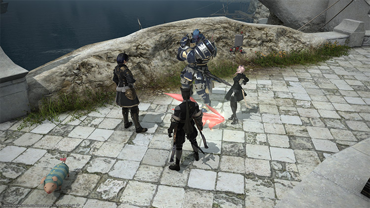 Group of treasure hunters in FFXIV