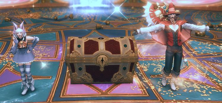 Treasure Chest after Gazelleskin Map Treasure Hunt / FFXIV