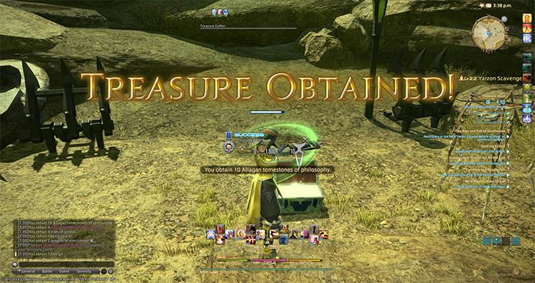 FFXIV 'Treasure Obtained' Screenshot
