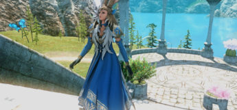 Blue Glam for a mage in FFXIV