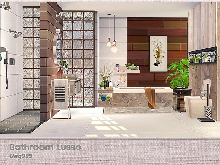 Bathroom Lusso Set / Sims 4 CC