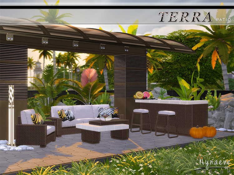 Terra Patio Set for The Sims 4