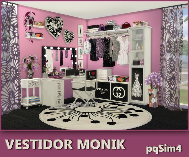"Vestidor ""Monik"" Bedroom Set / Sims 4 CC"