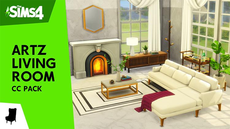 Artz Living Room CC Pack for The Sims 4