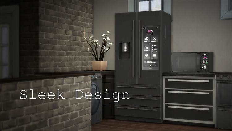 H&B Portal Expensive Refrigerator / Sims 4 CC