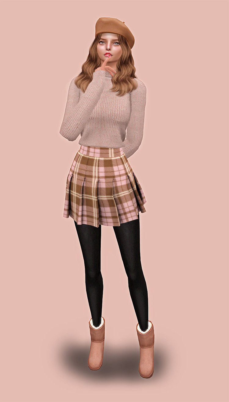 LSim Female Pleated Skirt Pack for The Sims 4