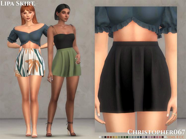 Lipa Skirt / Sims 4 CC