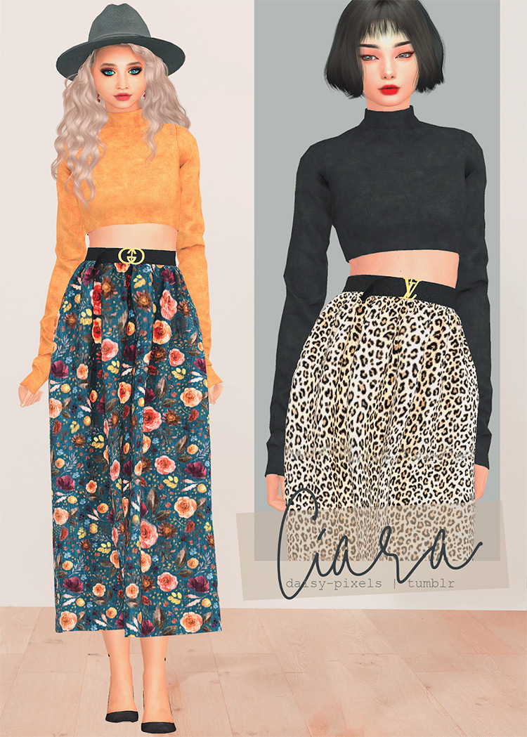 Ciara Skirt for The Sims 4