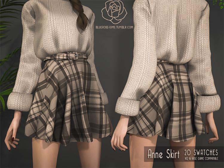 Anne Skirt / Sims 4 CC