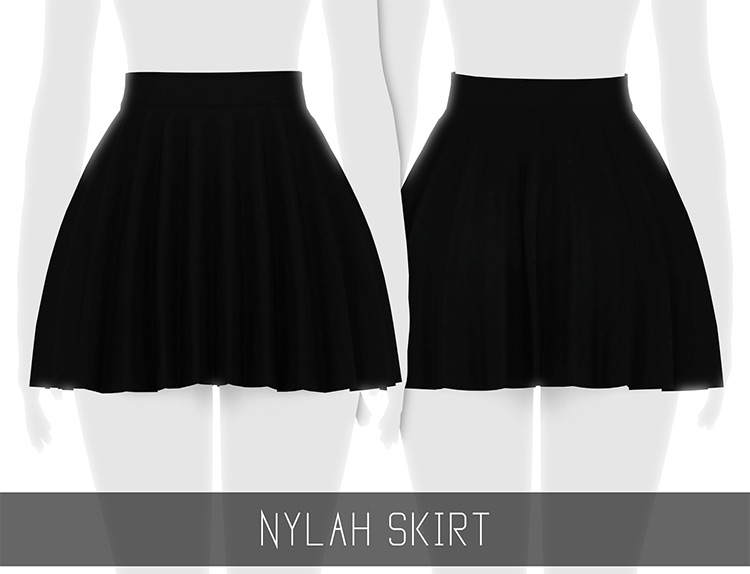 Nylah Black Skirt for The Sims 4