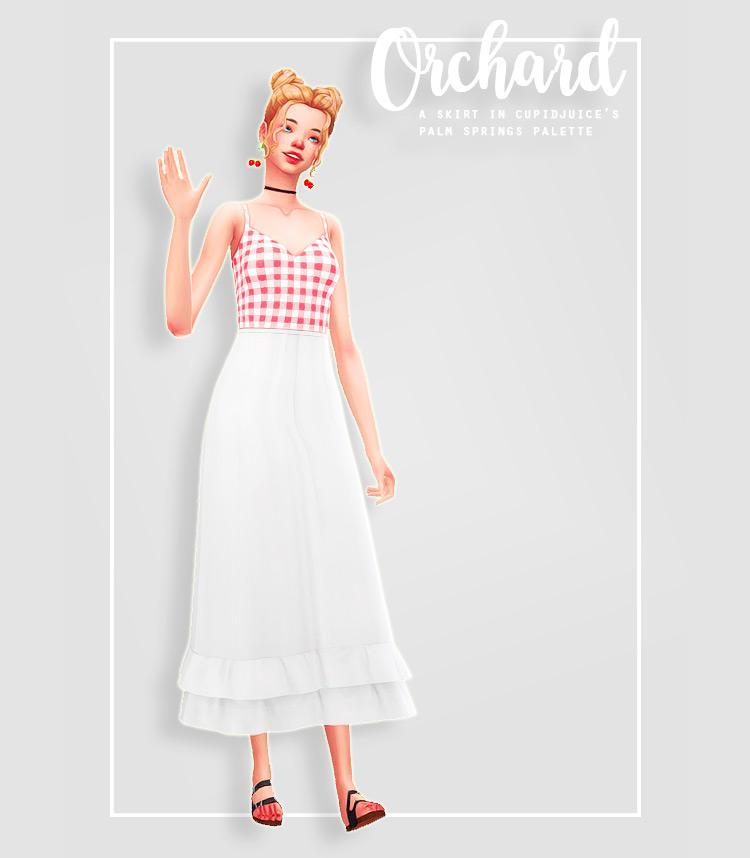 Long Orchard Skirt / TS4 CC