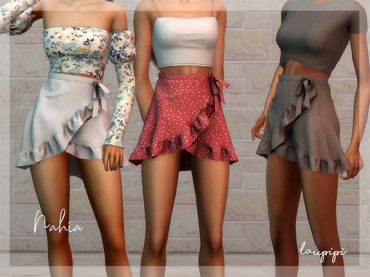 Nahia Skirt Tied / Sims 4 CC