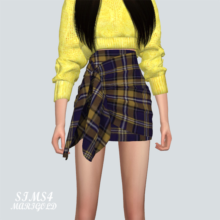 Tied Wrap Skirt for The Sims 4