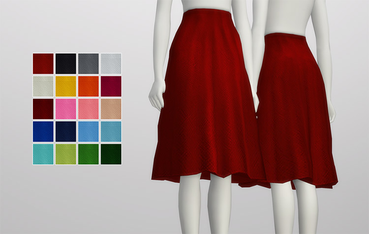 S4 Simple Flare Skirt for The Sims 4