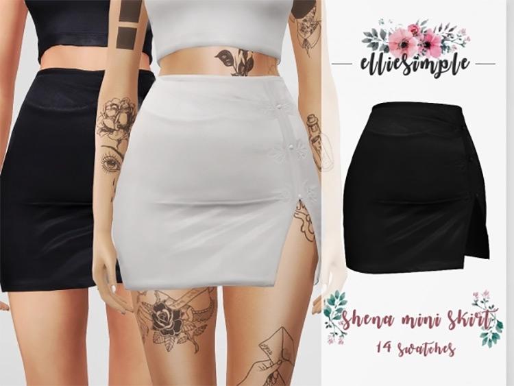 Shena Mini Skirt / Sims 4 CC