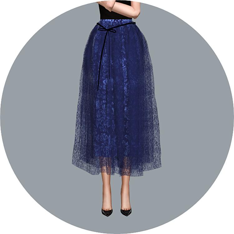 Ribbon Ballerina Skirt for The Sims 4