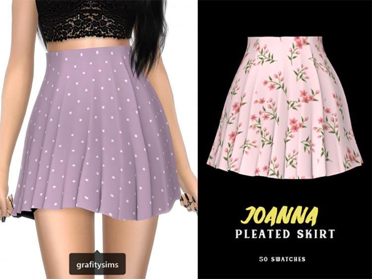 Joanna Pleated Skirt Designs / TS4 CC