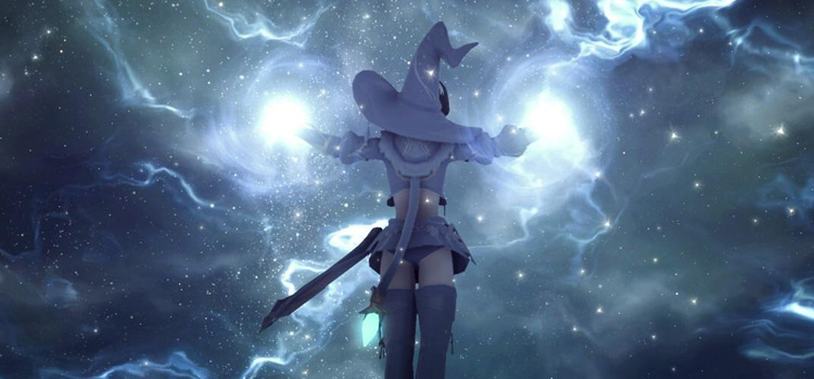 Astrologian casting a spell in FFXIV