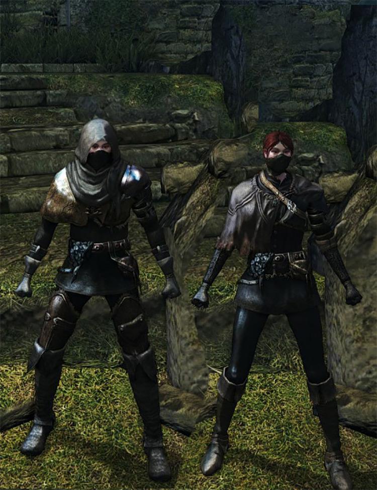Black Leather Set from Dark Souls Remastered