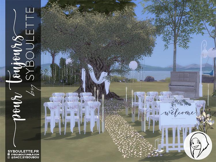 Pour Toujours Romantic Wedding CC Set / The Sims 4