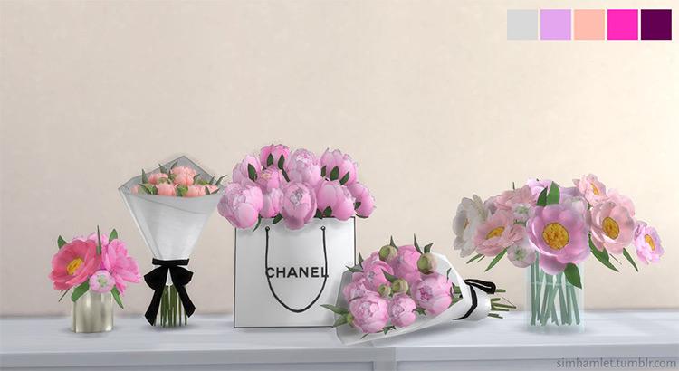 Peony Flower Set / Sims 4 CC