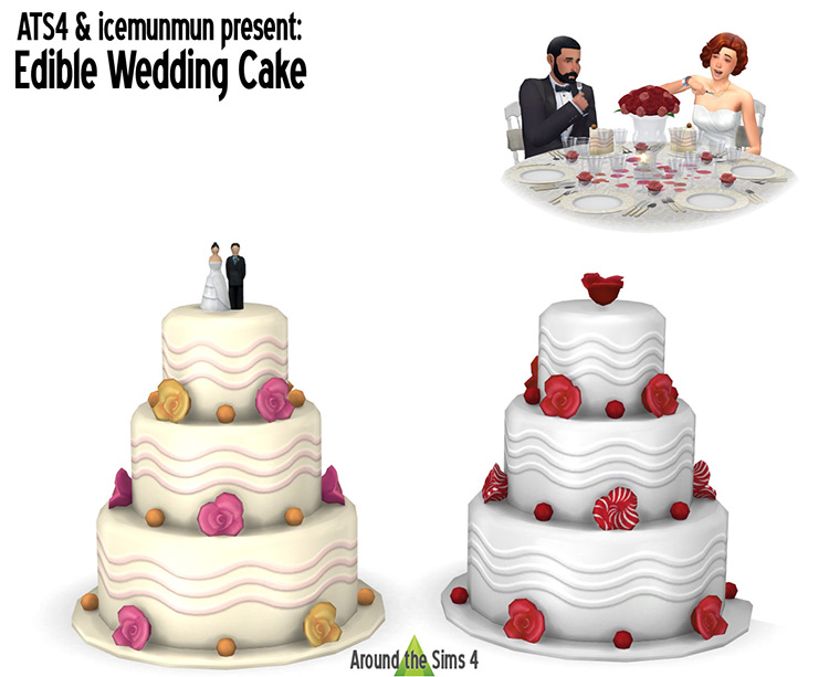 Edible Wedding Cake / Sims 4 CC