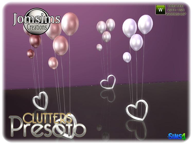 Presoto Baloon Decorations / Sims 4 CC
