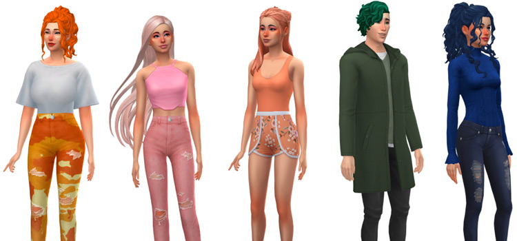 Not So Berry Challenge Characters from The Sims 4