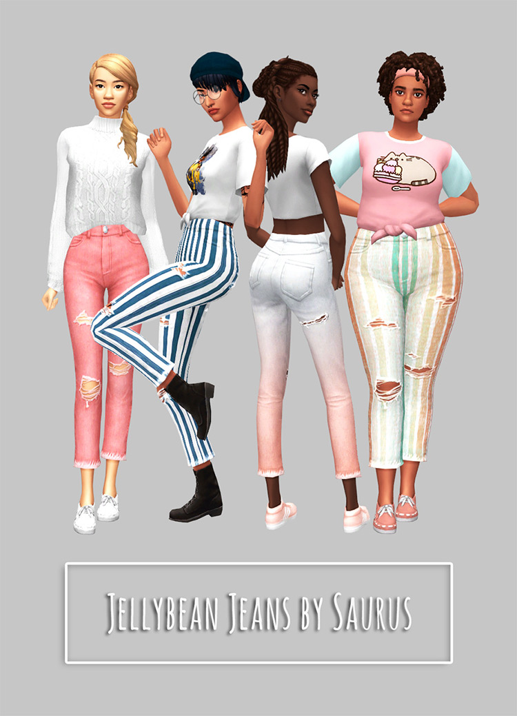 Jellybean Jeans in multiple colors / TS4 CC