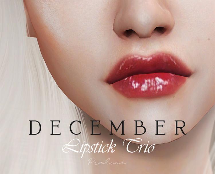 December Lipstick Trio preview