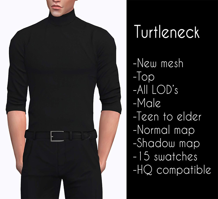 Turtleneck for males / Sims 4 CC
