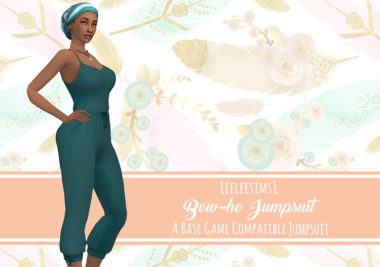 Bow-ho Jumpsuit for girls / TS4