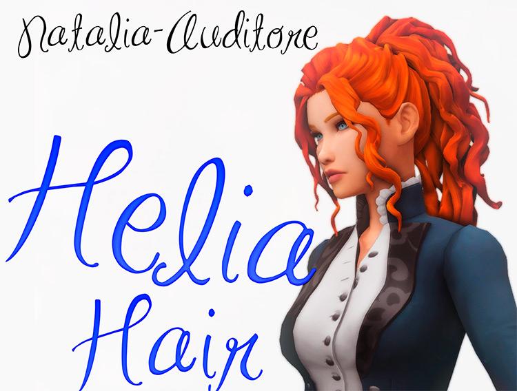 Helia Hair for girls / Sims 4 CC