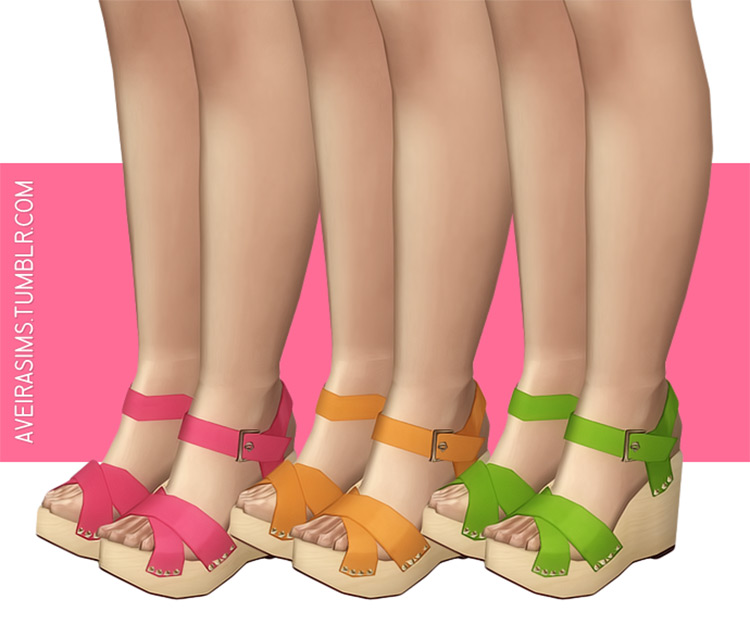 Madlen's Novara Sandals shoes / Sims 4 CC