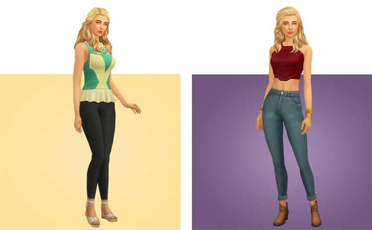 Skin-Tight Skinny Jeans CC / Sims 4