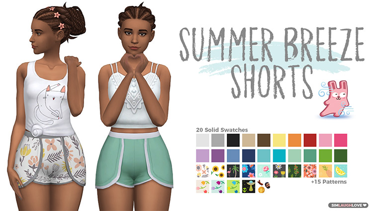 Summer Breeze Shorts CC for The Sims 4