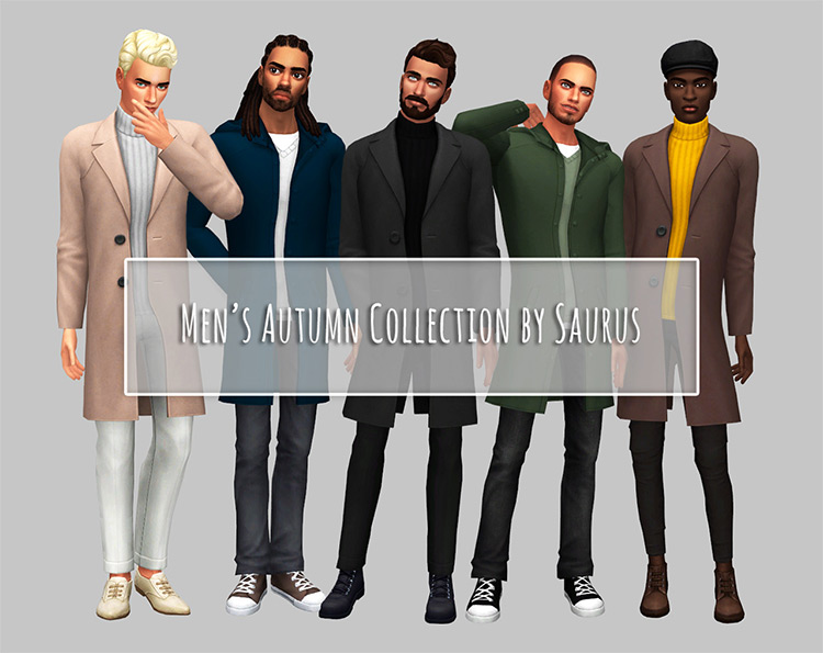 Men's Autumn Overcoats CC for The Sims 4