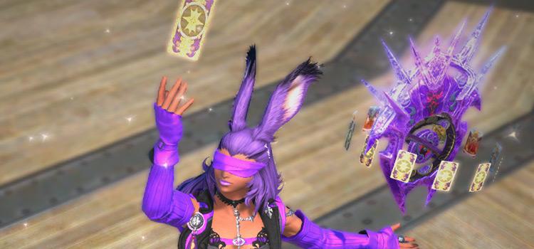 Purple Viera Glam with Hades EX Weapon / FFXIV