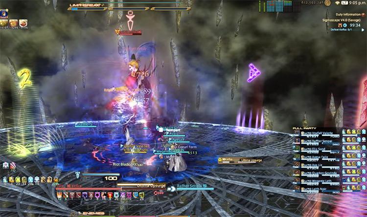 Kefka raid battle screenshot in FFXIV