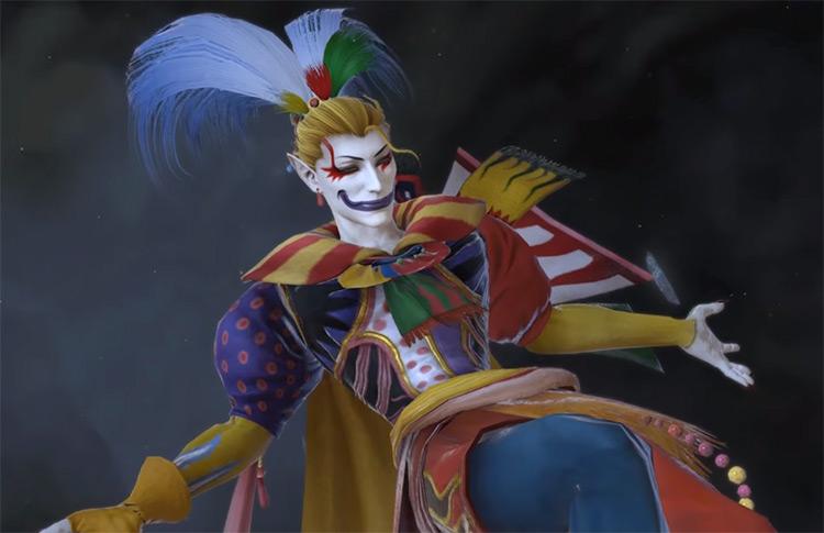 Kefka smiling in FFXIV cutscene