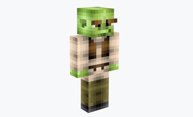 Shrek custom Minecraft skin