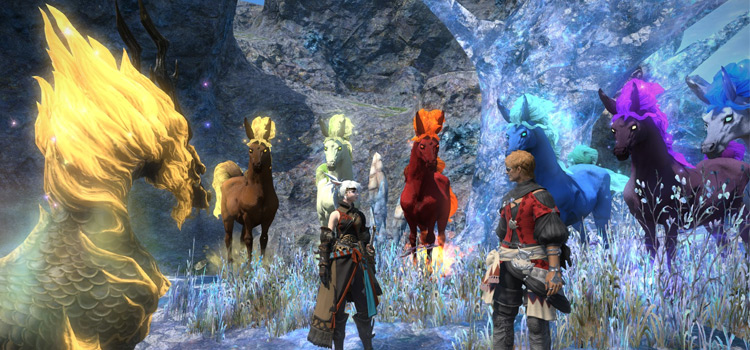 All pony mounts and Kirin in Final Fantasy XIV